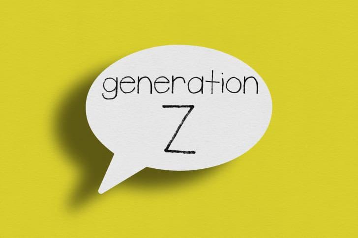 the words generation Z in a speech bubble
