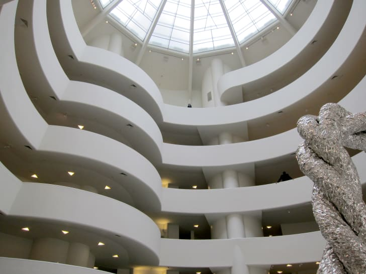 The inside of the Solomon R Guggenheim museum