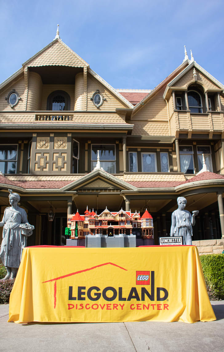 LEGO model of Winchester Mystery House.