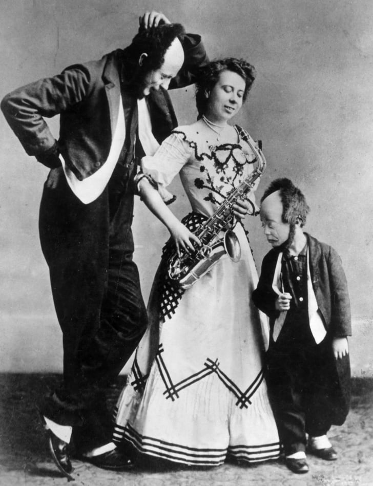 A 1905 photo of Buster Keaton as a child with his parents, Joe and Myra, with whom he formed a family vaudeville act.