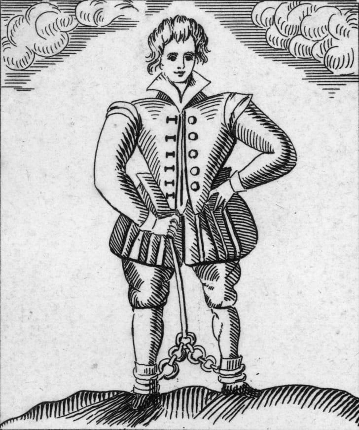 Engraving of Thomas Nashe.