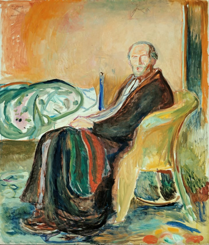 "Edvard Munch's ""Self-Portrait with the Spanish Flu."""