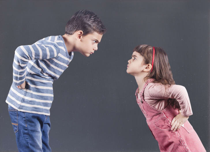 Two children arguing