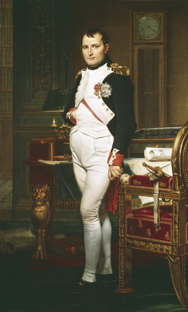 A portrait of Napoleon.