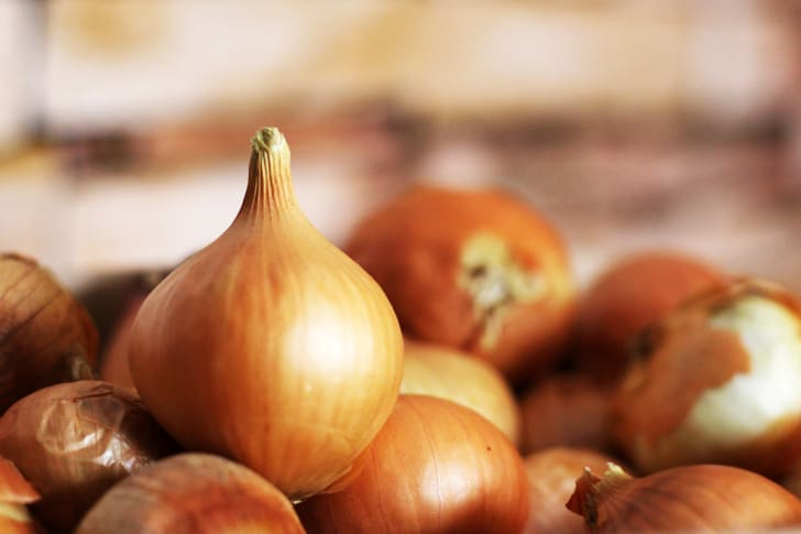 A pile of onions.