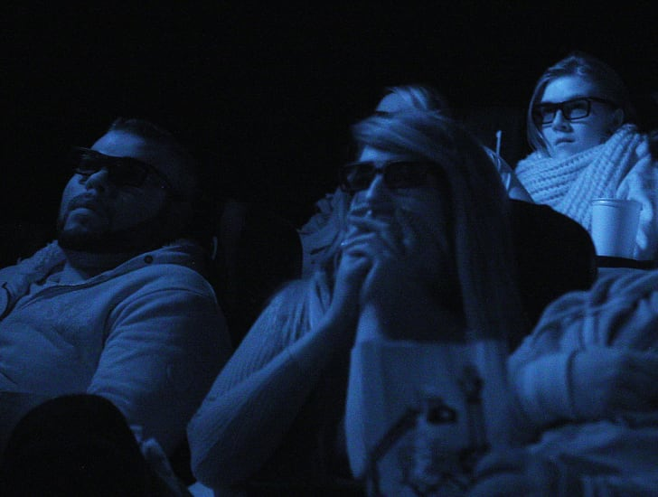 Paranormal Activity movie audience.