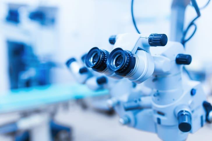 Optometrist equipment.