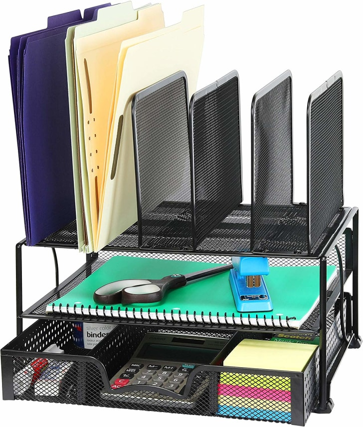 A desk organizer available on Amazon.