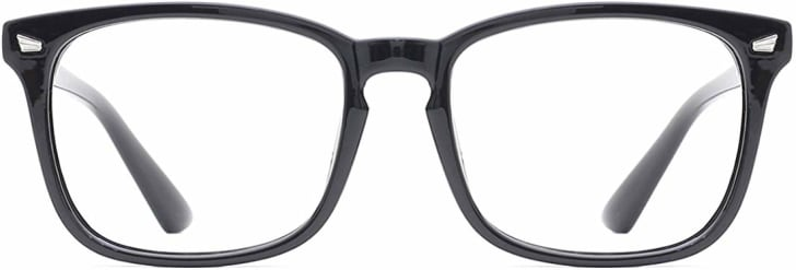 Glasses that block out UV light from the computer.