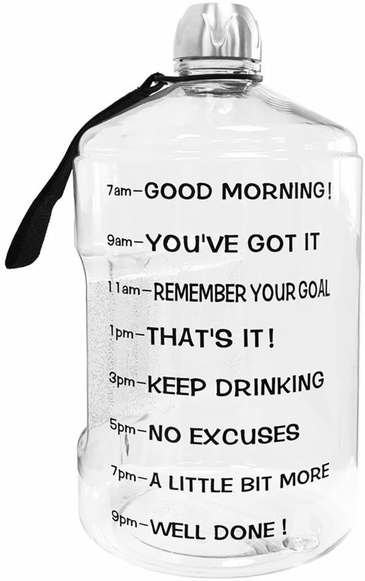 A water bottle for working out.