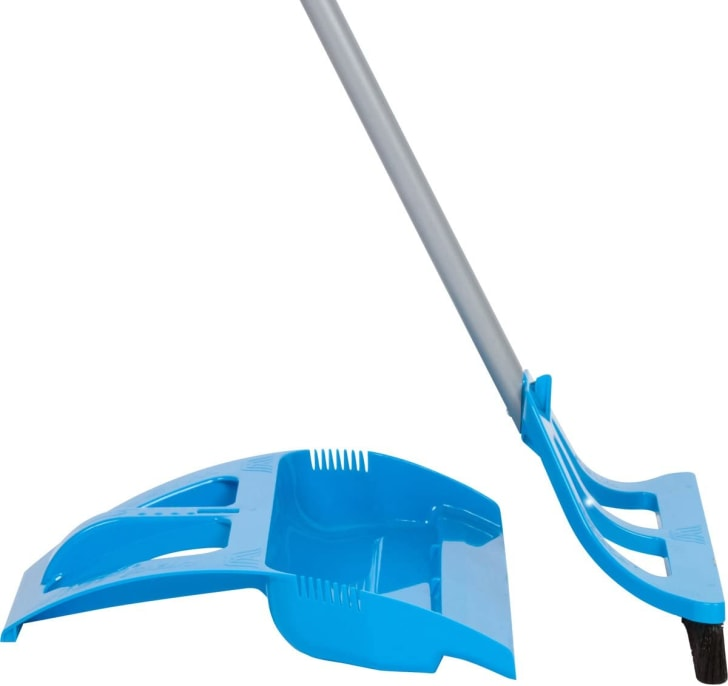 A one-handed broom and dustpan.