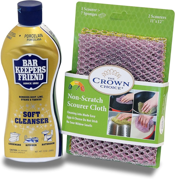 Bar Keepers Friend cleaning product.