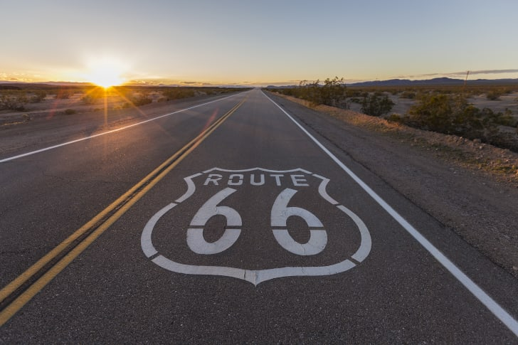 A photo of Route 66.