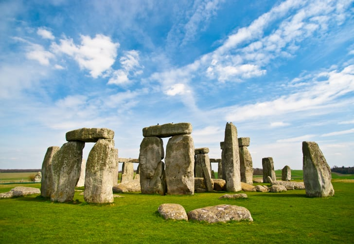 A view of Stonehenge.