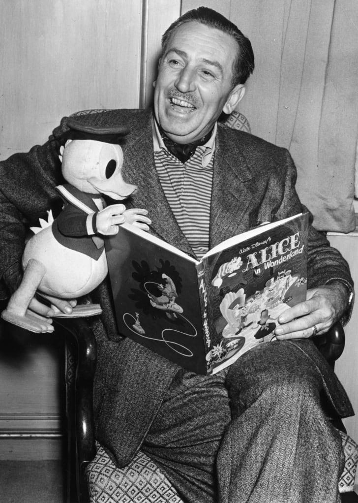Walt Disney Reading Alice in Wonderland.