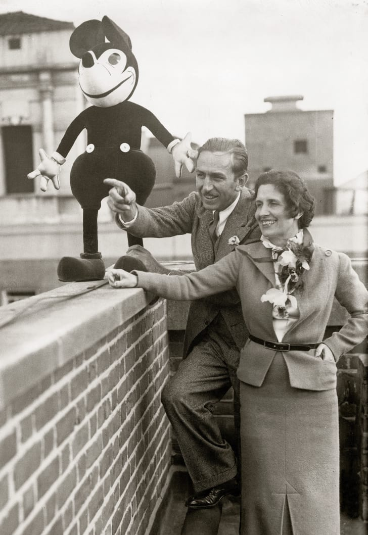 Walt Disney and his wife.