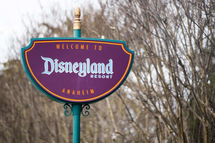 A sign at the Disneyland Resort.