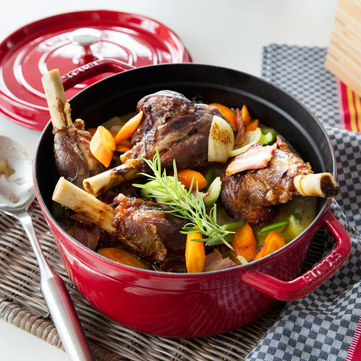 A cocotte full of food.