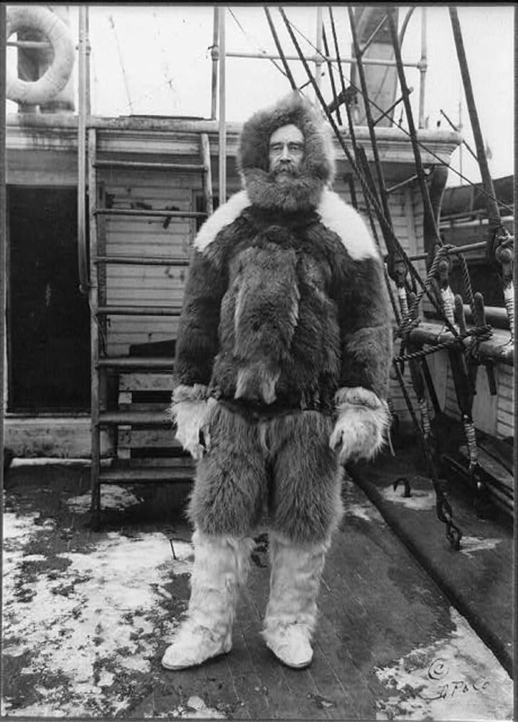 Robert Peary in furs