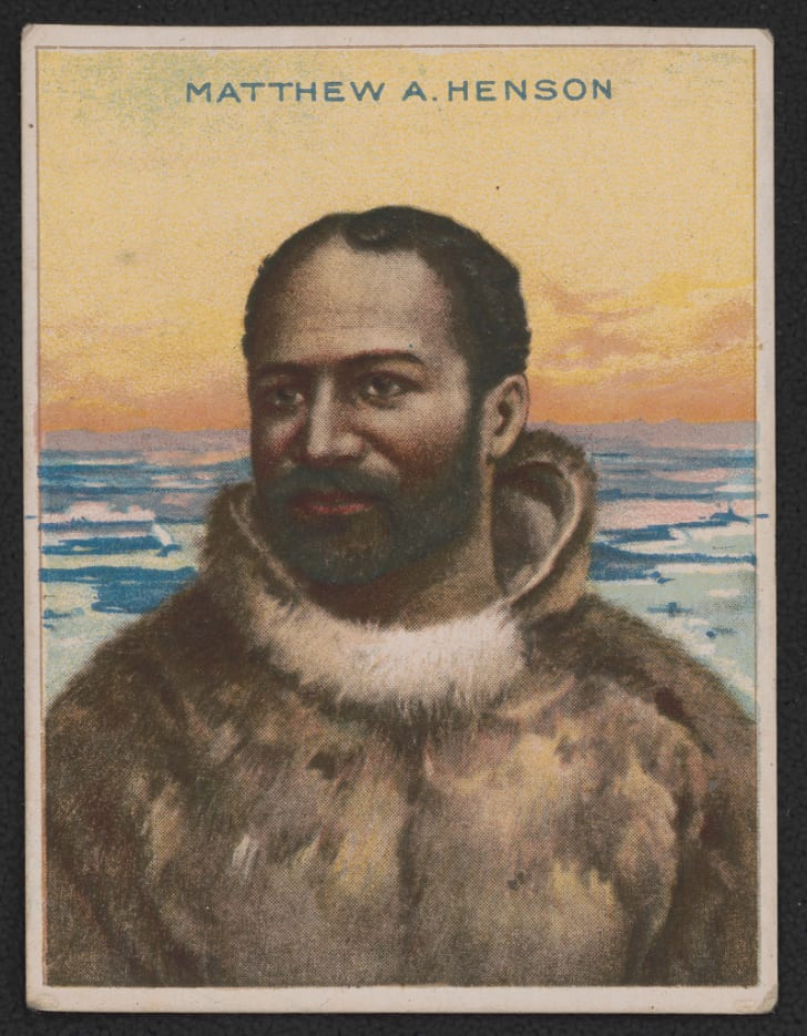 Cigarette card featuring explorer Matthew A. Henson
