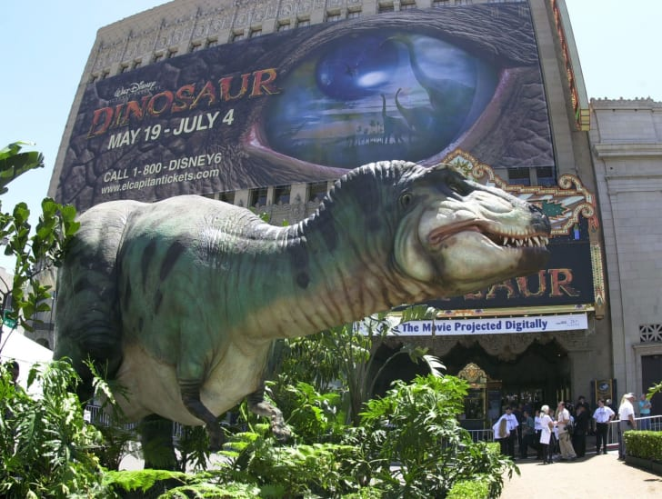 Photos from the premiere of the Disney movie 'Dinosaur.'