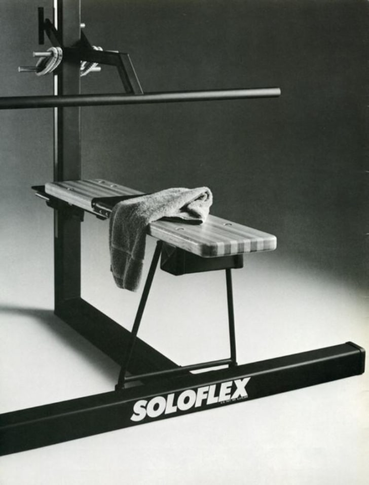 A Soloflex is pictured