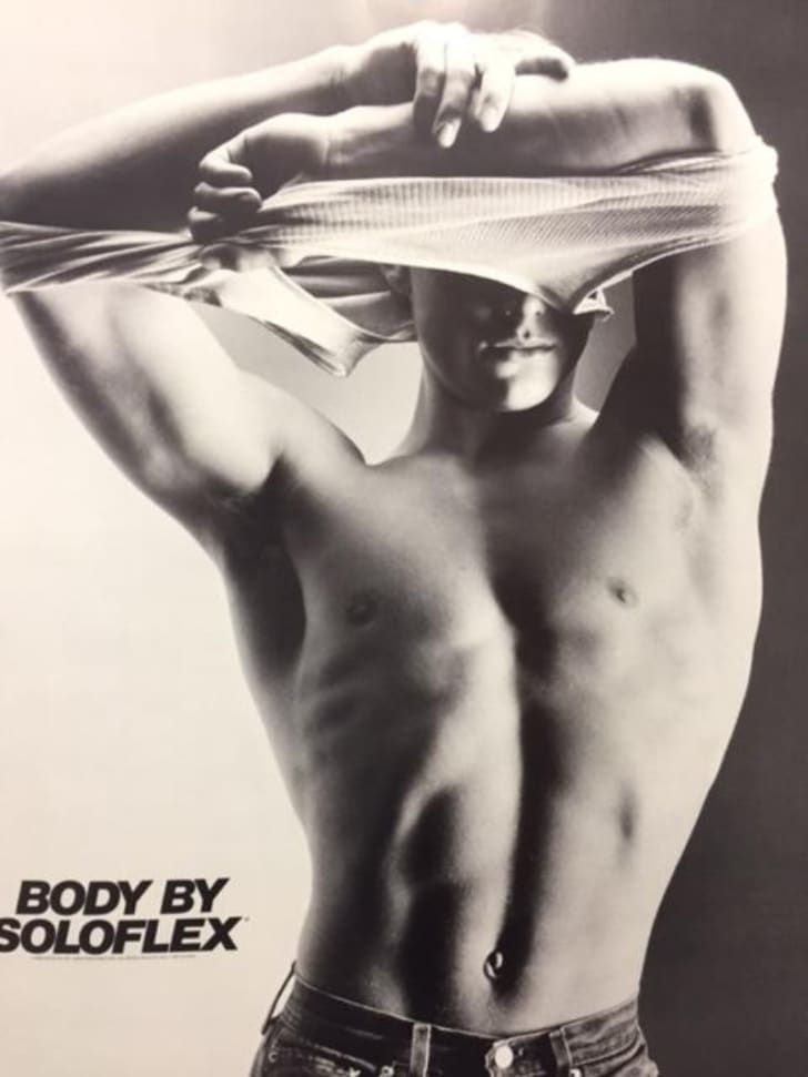 Scott Madsen is pictured in a Soloflex ad