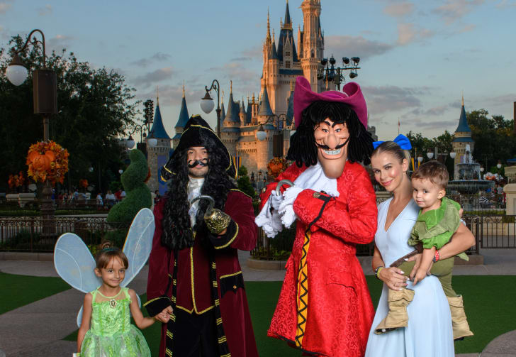 Captain Hook in the Magic Kingdom.