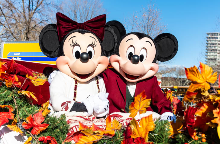 Mickey and Minnie Mouse.