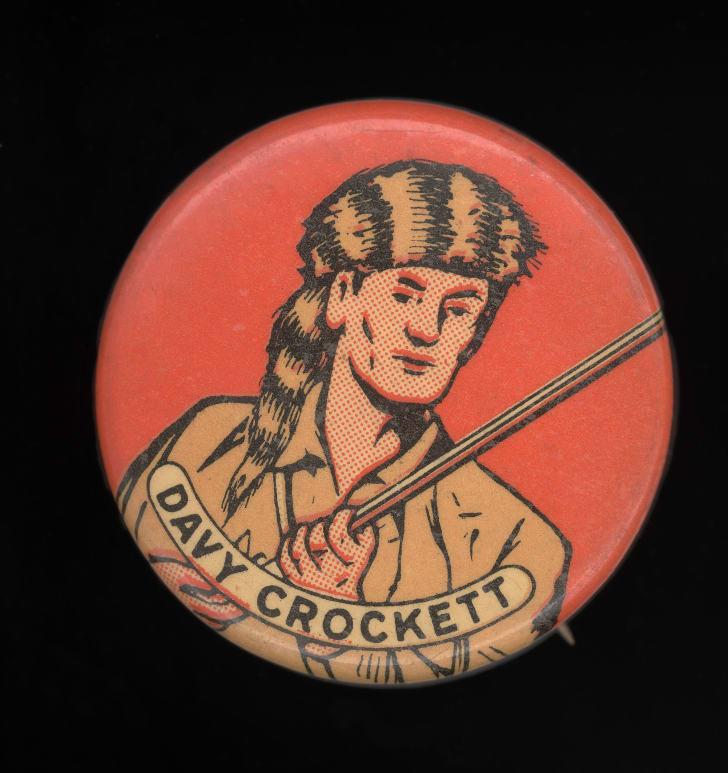 A Davy Crockett button.