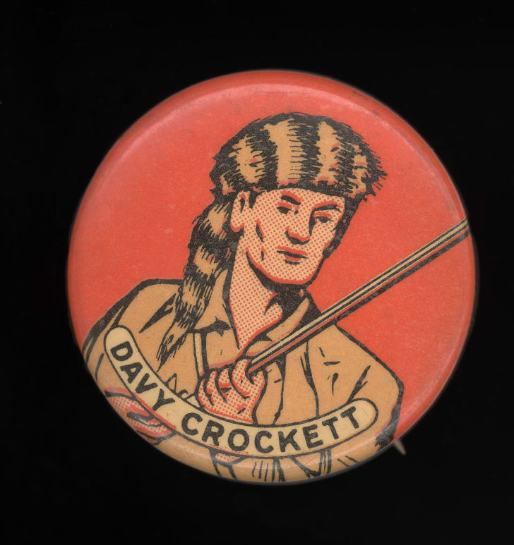 A Davy Crockett button.