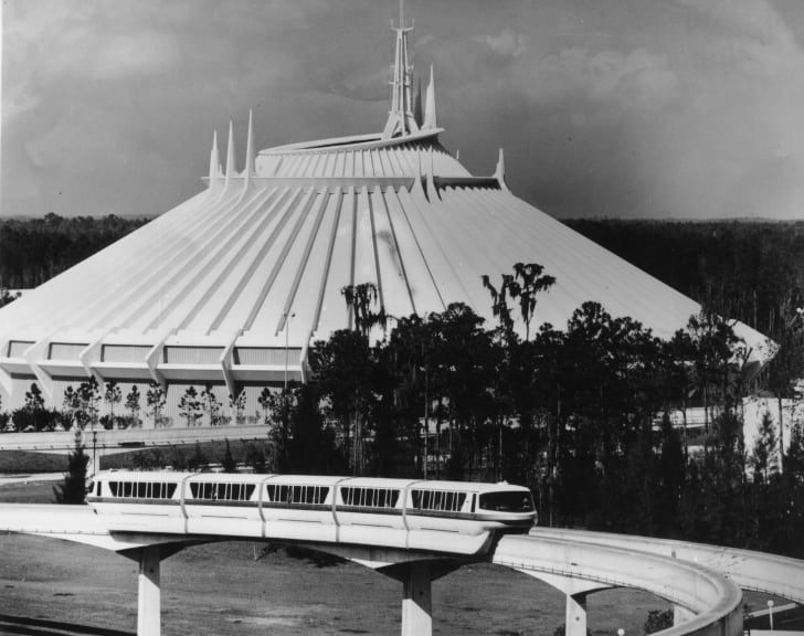 A photo of Space Mountain in Disney World.