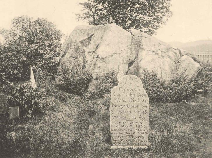 John Brown's gravesite in New York