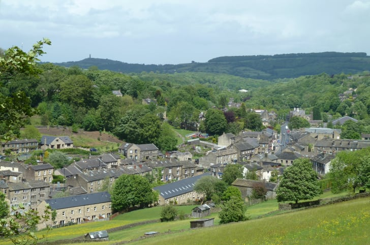 Holmfirth viewed from the cemetery