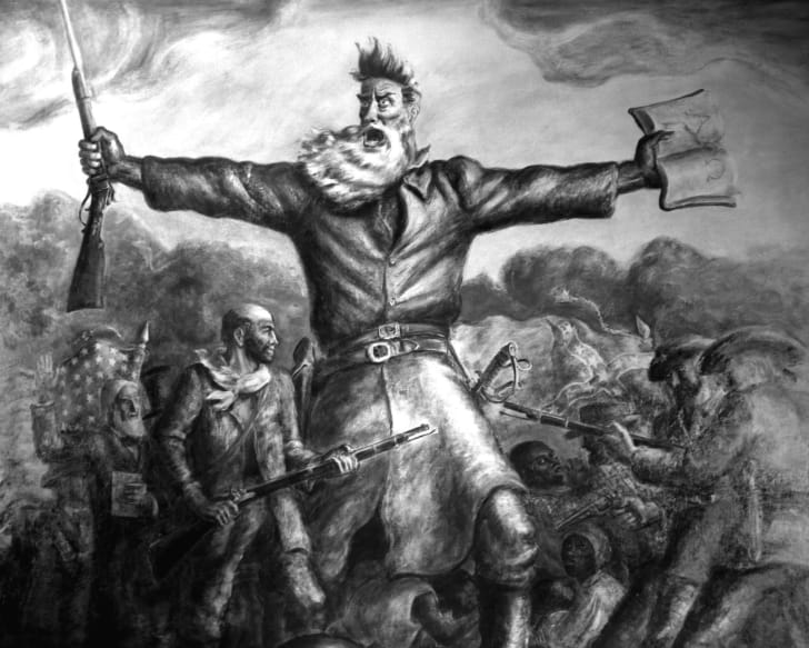 A John Brown mural by John Steuart Curry