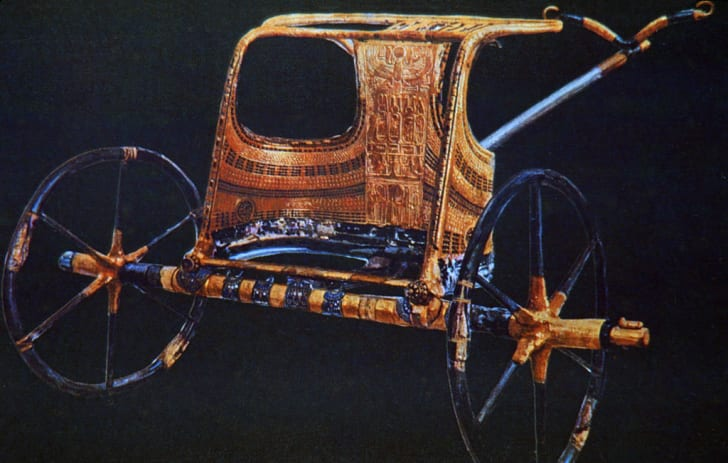 King Tutankhamun's burial chariot, which was discovered in the pharaoh's tomb.