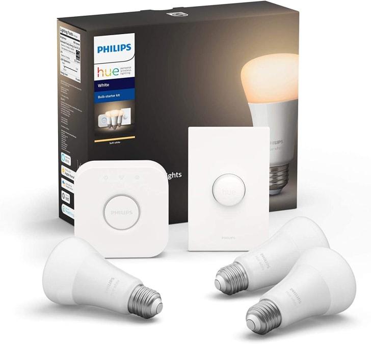 Philips Hue smart lightbulbs.
