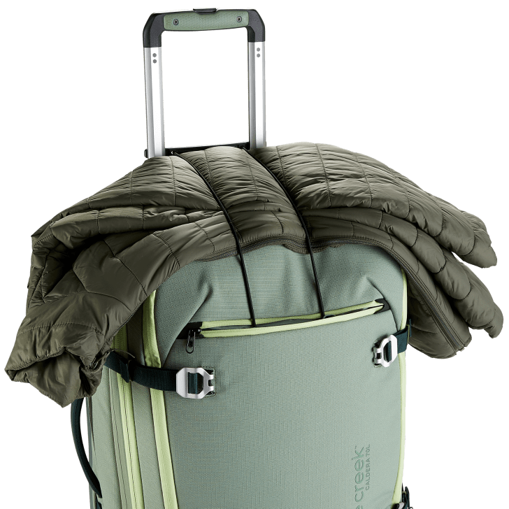 The Eagle Creek Caldera Wheeled Duffel.