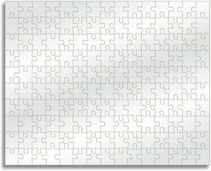Clear jigsaw puzzle.