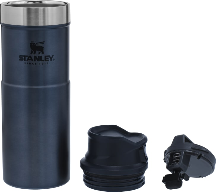 The Classic Trigger Action Travel Mug from Stanley.