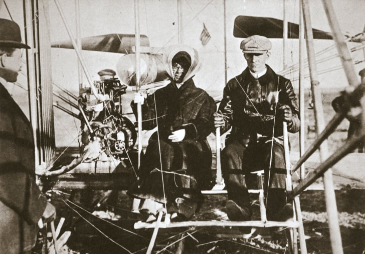 Wilbur Wright and his sister, Katherine.