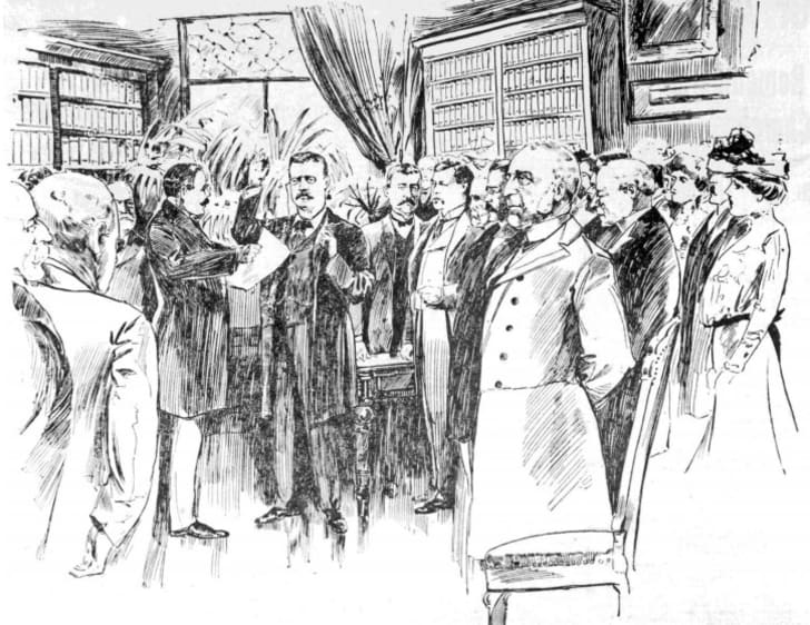 Theodore Roosevelt Inaugural Site printable coloring pages