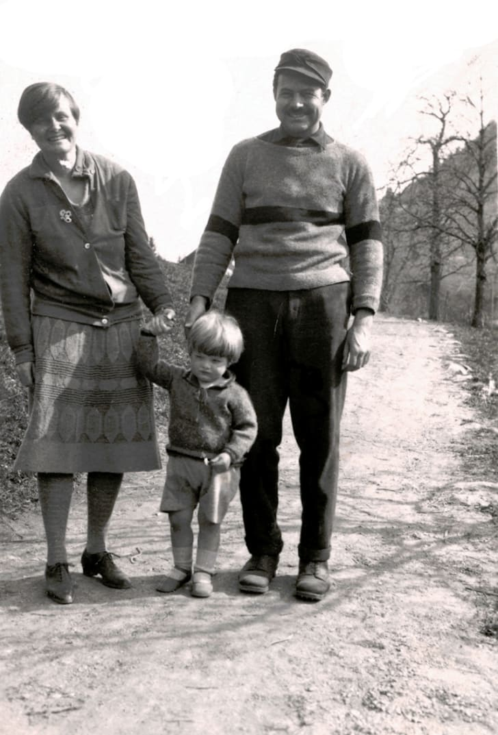 ernest hemingway with wife hadley and son bumby