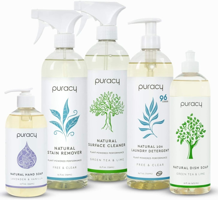 Puracy all-natural cleaners.