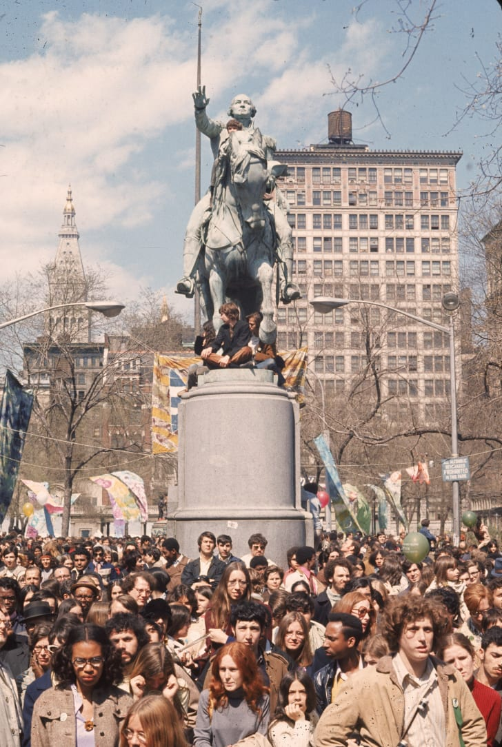 Earth Day protests in New York City.