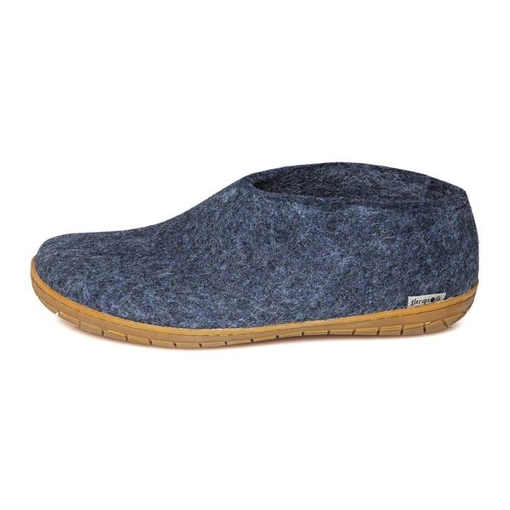 Glerups wool slipper with rubber sole.