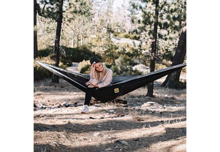 A camping hammock on Amazon.