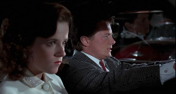Michael J. Fox and Lea Thompson in Back to the Future (1985)