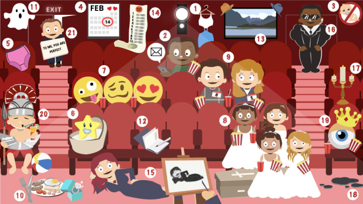 romance movie puzzle answers