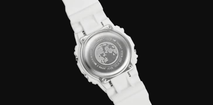 casio nasa watch case back